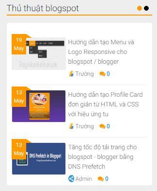 Hướng dẫn thêm Slider bài viết trượt dọc theo nhãn cho blogpsot/blogger