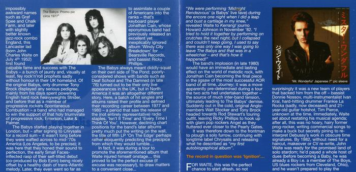 JOHN WAITE - Ignition [Rock Candy remastered] booklet