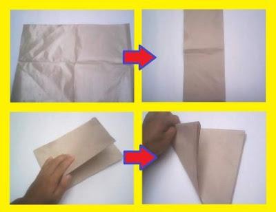 Cara membuat pola bunga pada kertas pembungkus makanan untuk sebuah acara