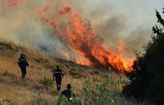 Πυρκαγιά έκαψε αγροτοδασική έκταση στην Φραγκαβίλλα Αμαλιάδας
