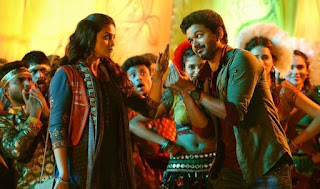 Keerthy Suresh with Vijay in Sarkaar
