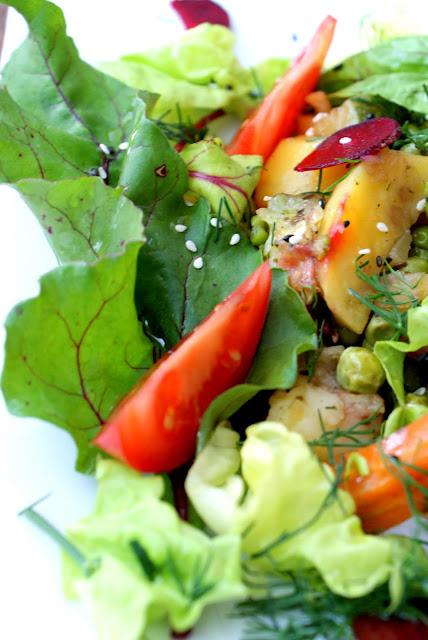 sałatka na ciepło,botwinka,z kuchni do kuchni,katarzyna franiszyn luciano,najlepsza salatka ,fotness,malo kalorii