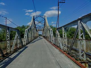 Галич. Пішохідний міст через Дністер