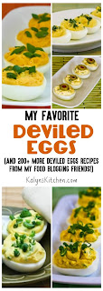 My Favorite Recipes for Deviled Eggs (and 200+ more deviled eggs recipes from my food blogging friends) found on KalynsKitchen.com