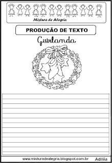 Produção de texto guirlanda de natal