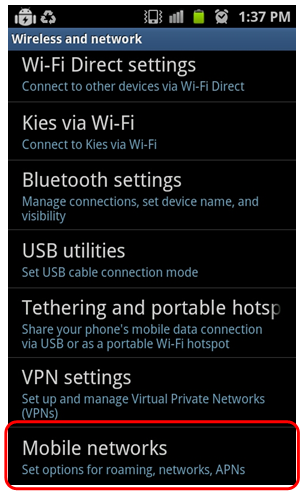 Samsung Galaxy S3: How to Select Phone Network Automatically or Manually