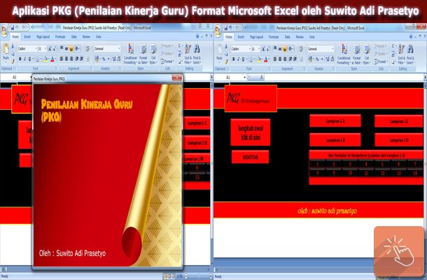 Aplikasi PKG (Penilaian Kinerja Guru) Format Microsoft Excel oleh Suwito Adi Prasetyo
