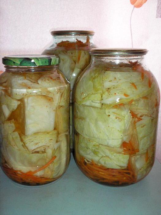 белокочанная капуста рецепты на зиму маринованная