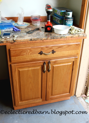 Eclectic Red Barn: Updated cabinet with new drawer pulls