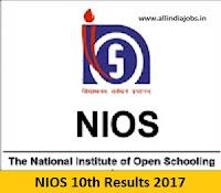 NIOS 10th Results 2017