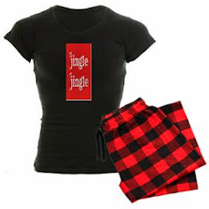 Santa Jingle Women's Dark Pajamas