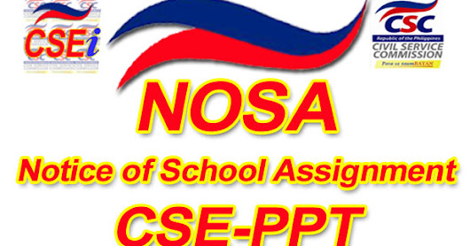 Notice of School Assignment (NOSA) for the March 12, 2017 CSE-PPT Professional and Subprofessional Level - Region 4