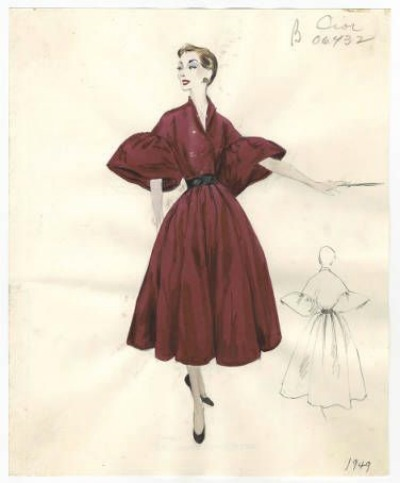 "Christian Dior Autumn Winter 1949-50 ""Bamboche"" Bergdorf Goodman"