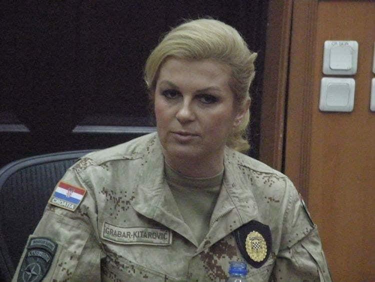 La Presidente croata Kolinda Grabar Kitarovic