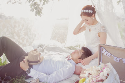 日系婚紗 草原野餐風