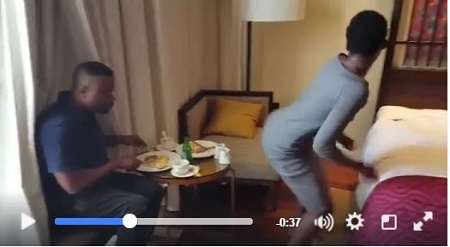 See What a Nigerian Actor was Caught Doing in the Hotel Room with a Lady (Video)
