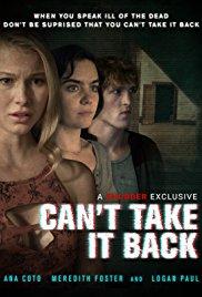 Watch Can't Take It Back Online Free 2017 Putlocker