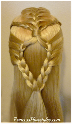 Half up braided hairstyle for school, video tutorial.