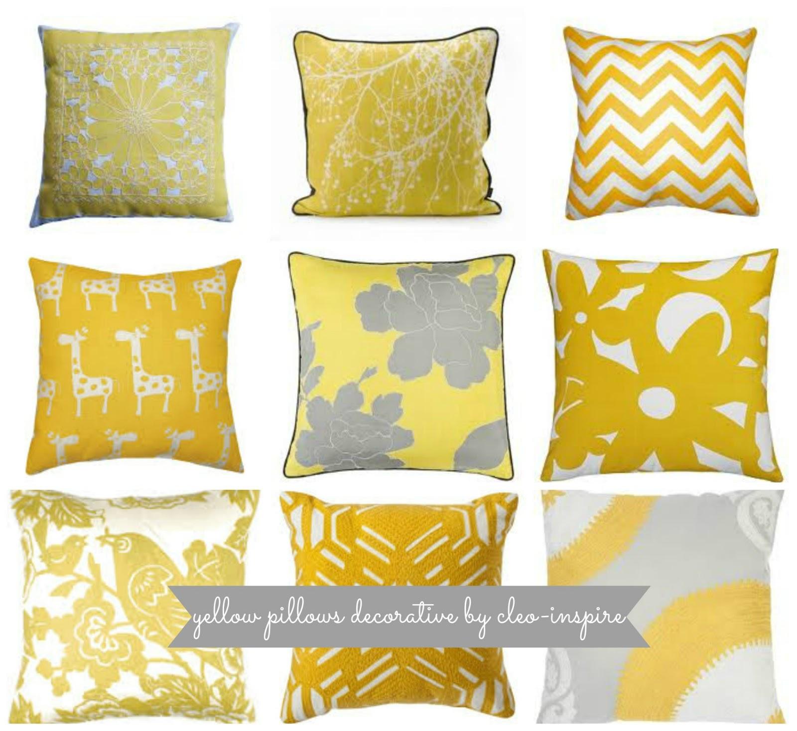 poduszki żółty