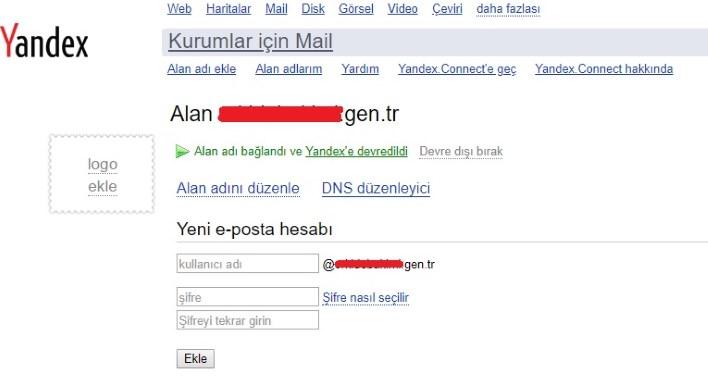 blogger için yandexe domain ekleme