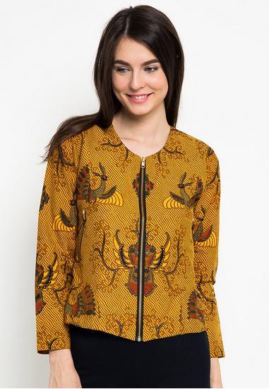 Baju Batik Wanita Tren Kekinian - Cara Menjahit Pakaian