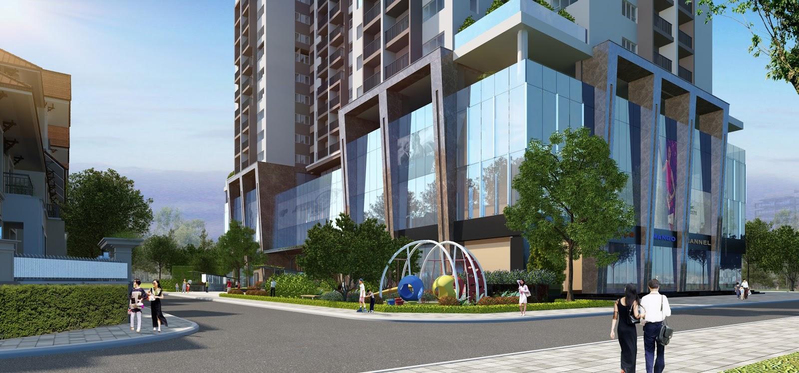 Phối cảnh trung tâm thương mại Chung cư Thanh Xuân Complex (Hapulico 24t3)