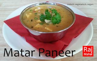 Matar Paneer: Erbsen und indischer Käse in würziger Zwiebel-Tomaten-Sahnesoße