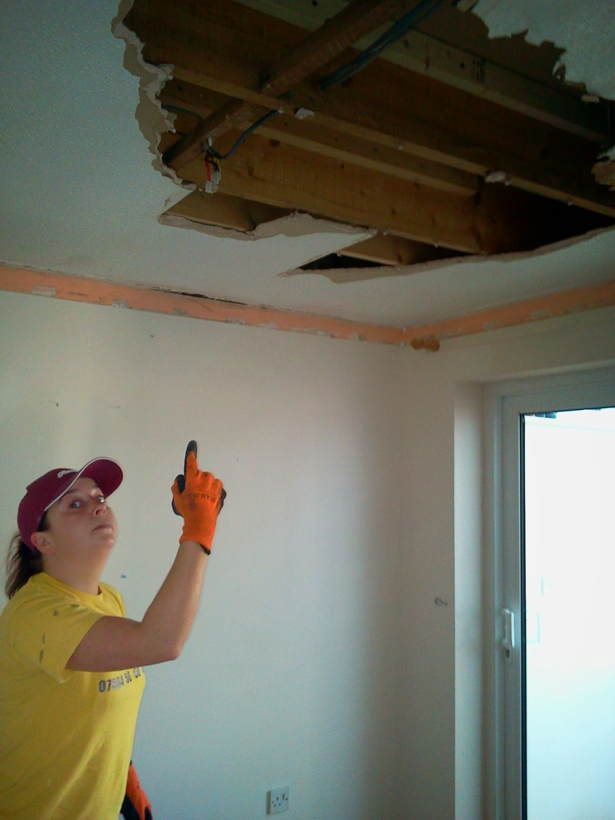 How To Repair Plaster Ceiling Source The Had Be Demolished Here Is My  Partner At Handy