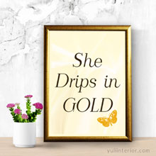 She drips in Gold Wall Frame, Framed Print in Port Harcourt, Nigeria