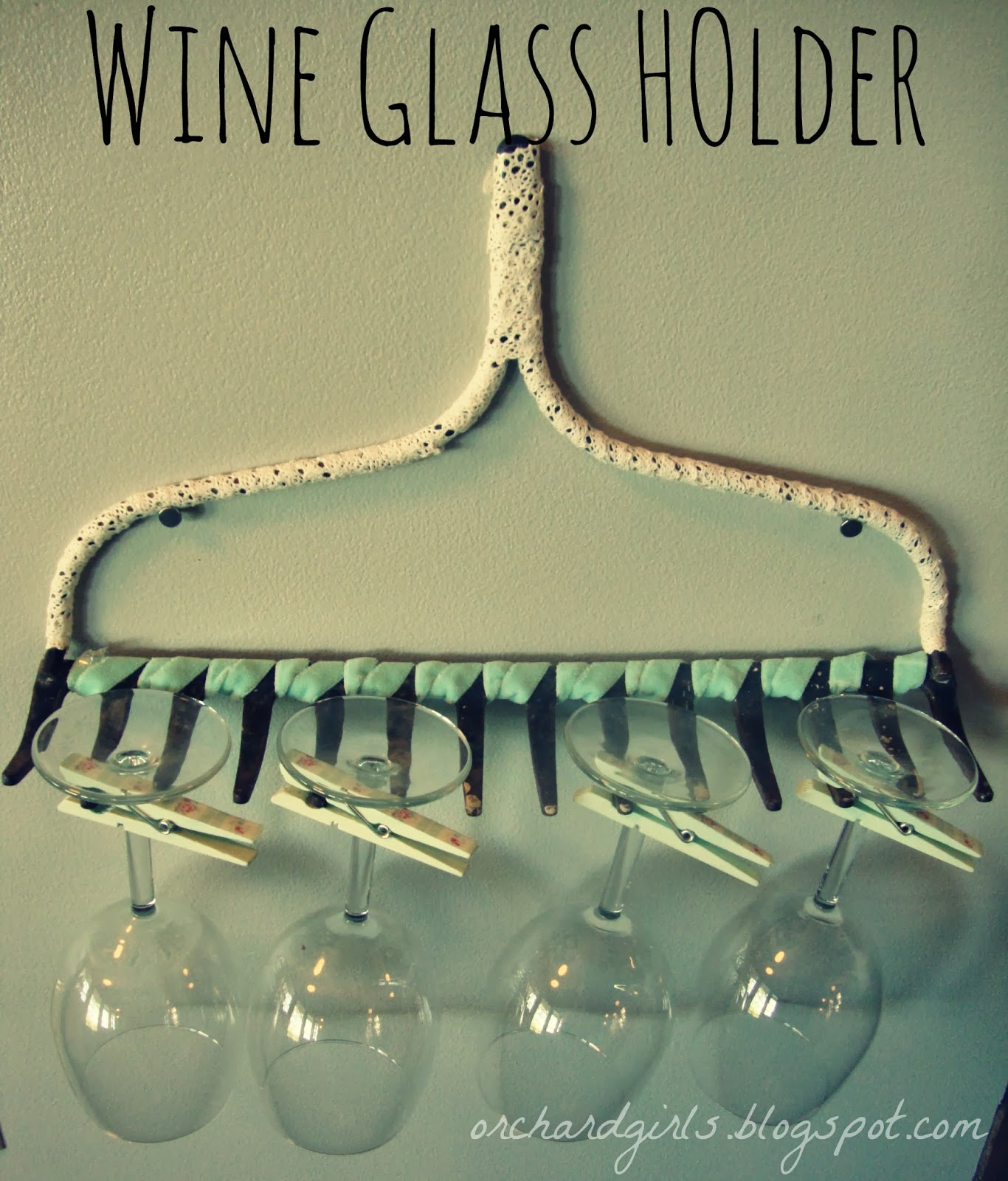Orchard Girls Thrifty Thursday Diy Wine Glass Rack