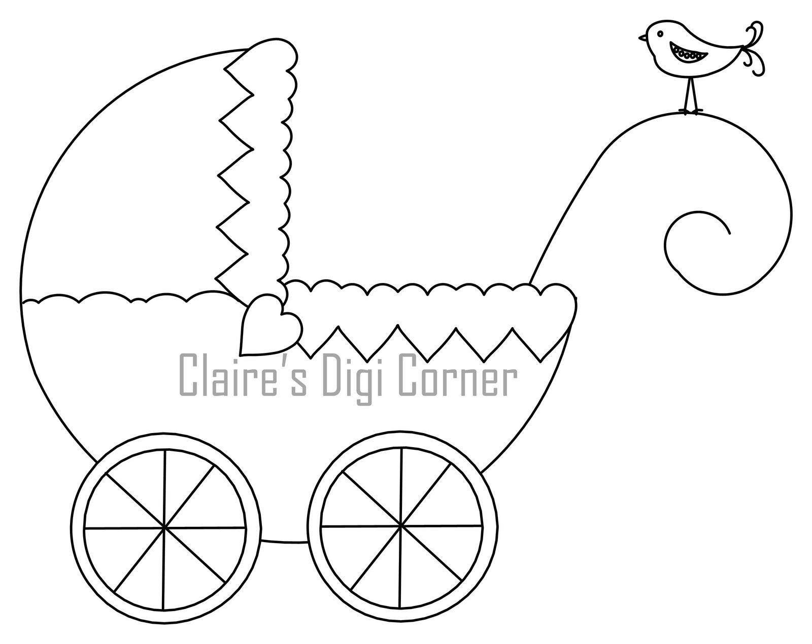 baby carriage coloring pages - photo #35