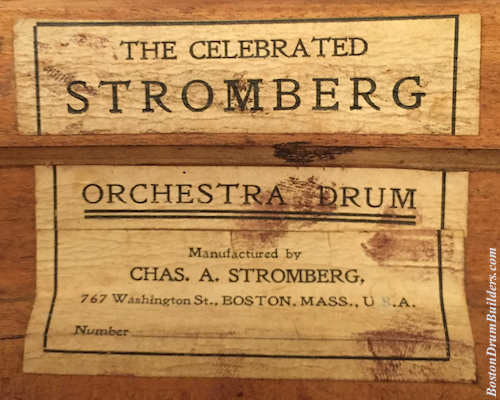 ca. 1906 Stromberg Drum Label