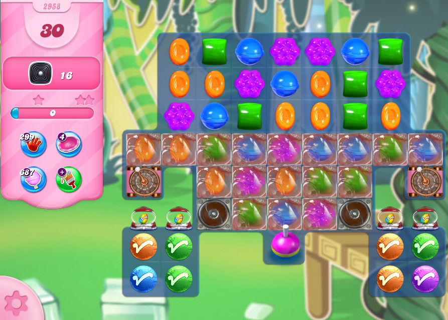 Candy Crush Saga level 2958