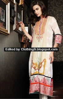 Firdous Embroidered Cotton Kurti