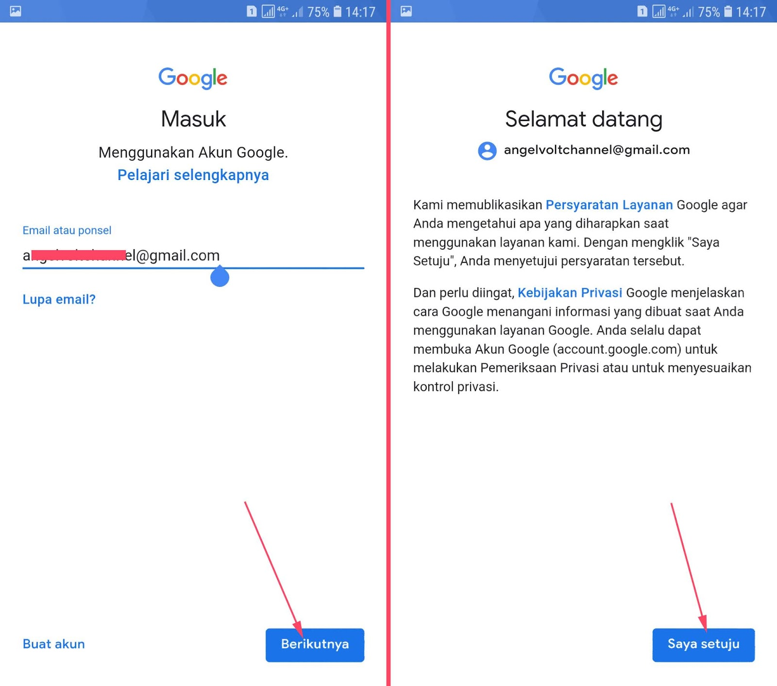Cara Menambah Akun Gmail Di Hp Android Samsung Espada Blog