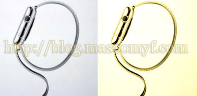 Apple smartwatch silver and golden