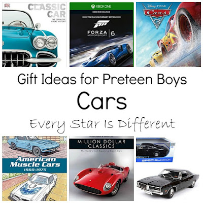Car themed gift ideas for preteens