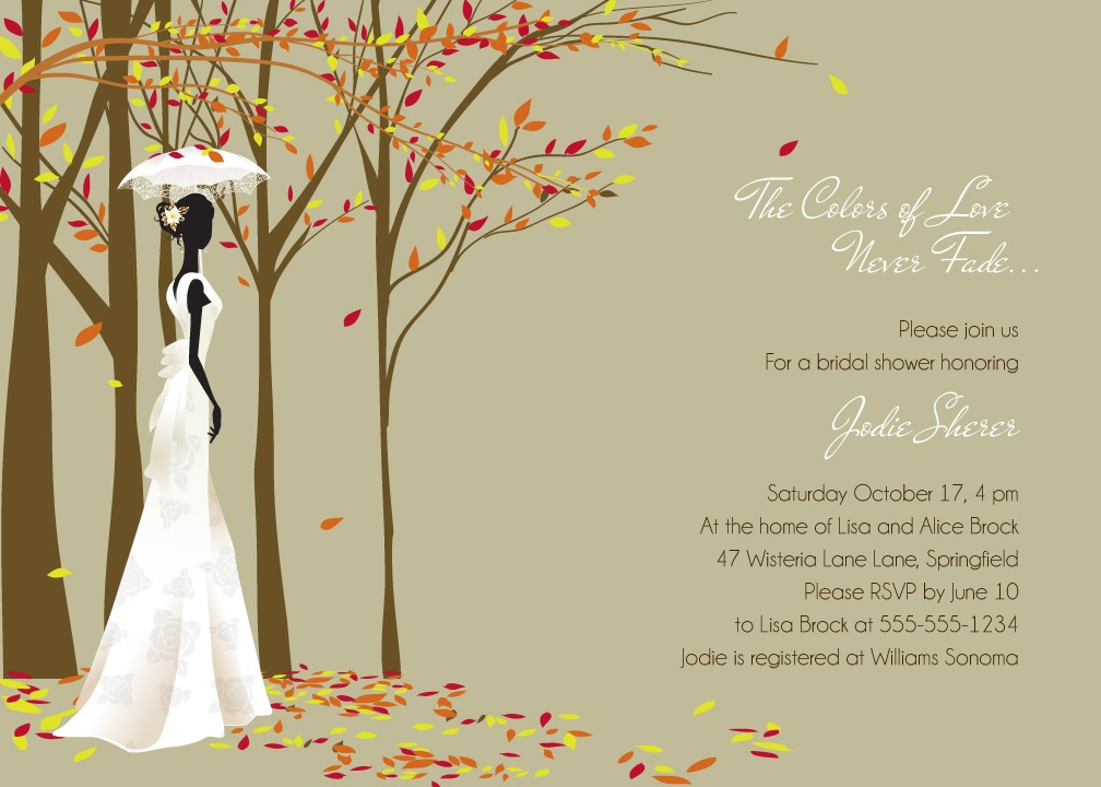 Autumn Vanilla Picture: Autumn Themed Bridal Shower ...