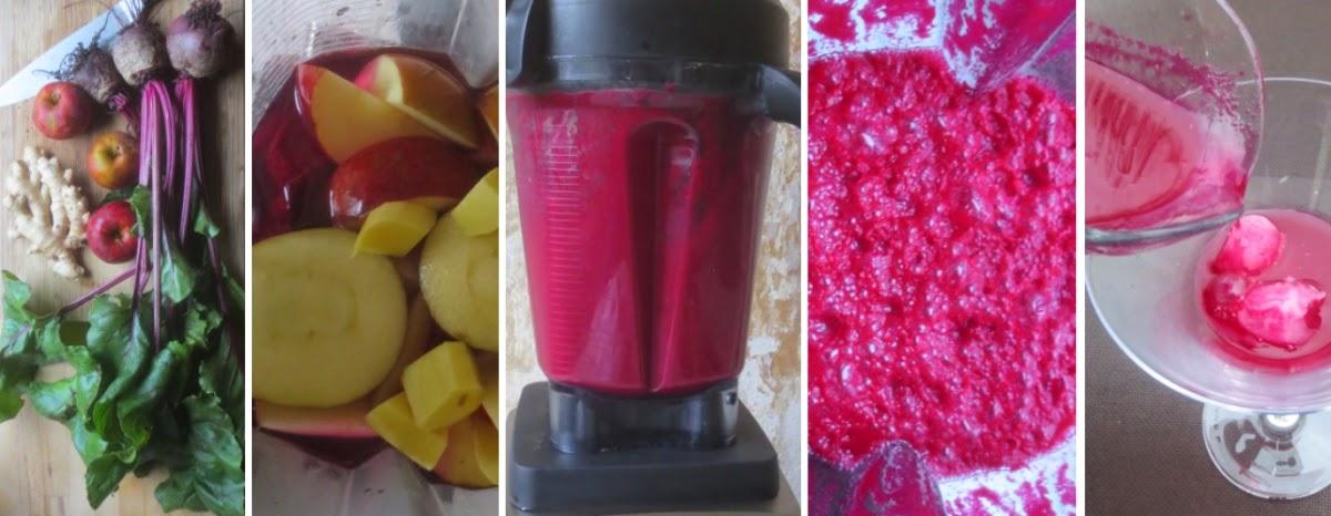 Zubereitung Rote-Bete-Apfel-Ingwer-Cocktail - Detox
