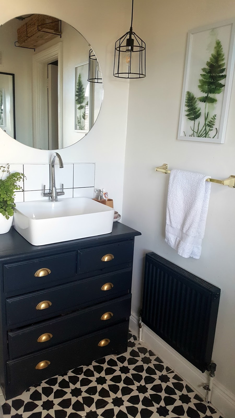 Industrial Glam Bathroom Reveal Finally Make Do And Diy
