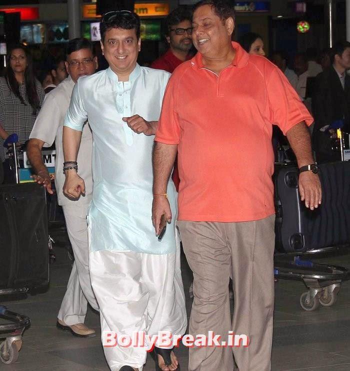 Sajid Nadiadwala, David Dhawan, Bollywood Celebs at Airport to Attend Arpita Khan's Wedding