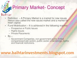 Baihtar Investments Primary Market - Primary market