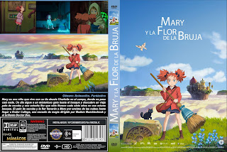 CARATULA Mary and the Witch's Flower - MARY Y LA FLOR DE LA BRUJA 2018 [COVER DVD]