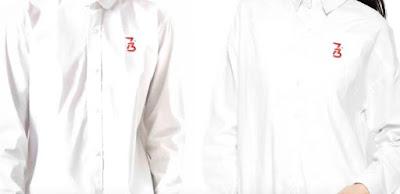 Logo Hut RI ke 73 di baju Kemeja Putih