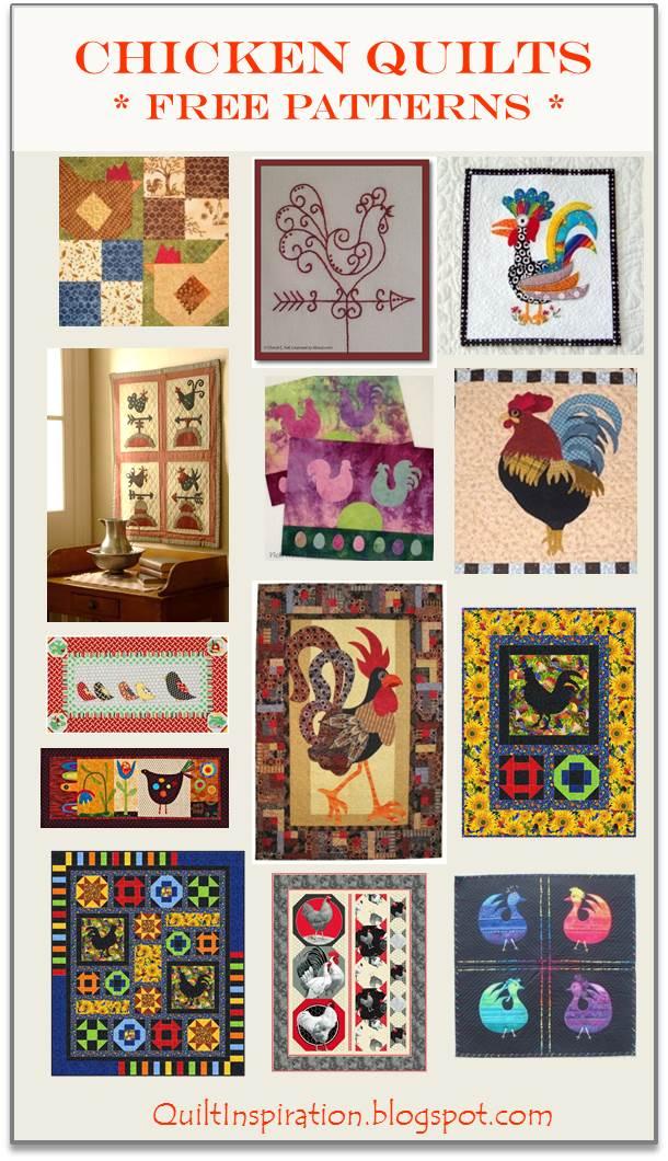 Quilt Inspiration Free Pattern Day Chickens New Chicken Quilt Pattern