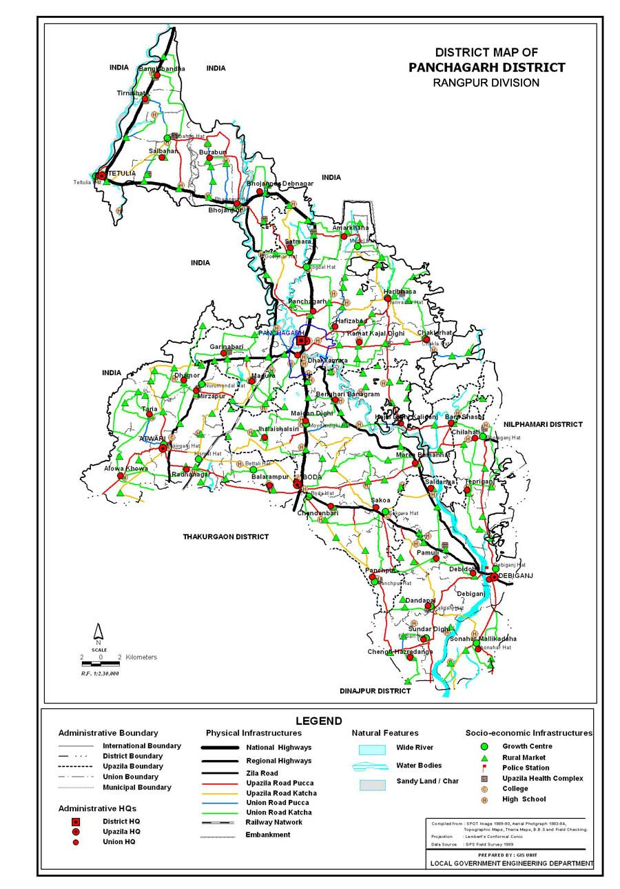 Panchagarh District Map Bangladesh