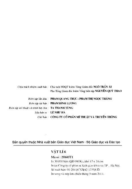 Trang 3 sach Sách Giáo Khoa Vật Lí Lớp 6