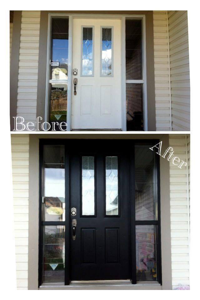 She Re-Purposed It: How to paint your garage & front door!