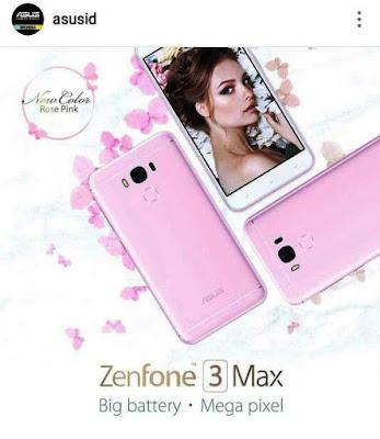 ZenFone3 Max ZC553KL Pink
