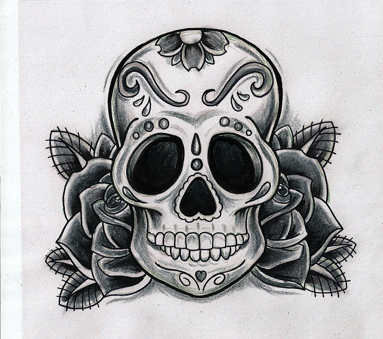 40+ Skull Tattoo Designs, Ideas | Design Trends - Premium ... |Funny Skull Designs